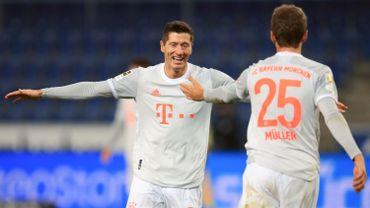 Le tandem Lewandowski/Muller, grand artisan du succès du Bayern.