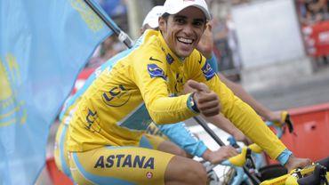 Alberto Contador, vainqueur sortant de la Grande Boucle
