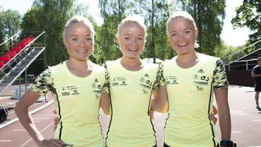 Les soeurs Leila, Liina et Lily Luik, plus fortes que les frères Borlée