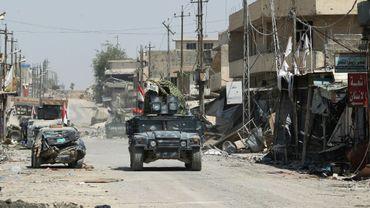 Les forces irakiennes à l'ouest de Mossoul le 17 juin 2017