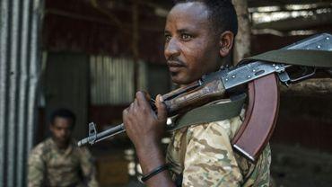 Un milicien amhara à Dansha, le 25 novembre 2020