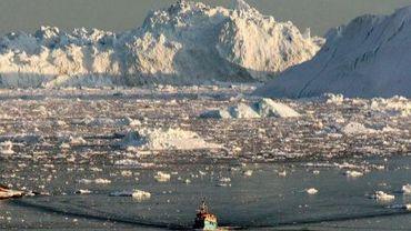 Photographie de l'Arctique le 28 août 2008 à l'ouest du Groenland