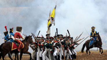 Reconstitution de la bataille de la Bérézina qui marqua la fin des rêves de conquêtes de Napoléon.