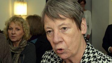 Barbara Hendricks lors d'une rencontre sur la sécurité des centrales nucléaires avec les autorités belges le 1er février 2016.
