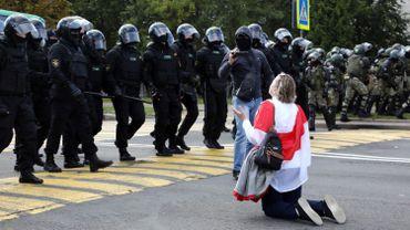 Depuis l'élection contestée de Loukachenko, les opposants manifestent.