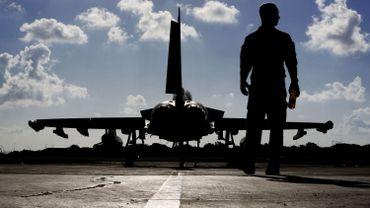 Un Eurofighter sur une base britannique.