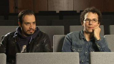 Alexandre Astier et Louis Clichy au micro d'Hugues Dayez