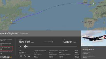 Tempête Ciara: record pour un vol New York - Londres effectué en moins de 5 heures