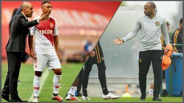 Leonardo Jardim, Youri Tielemans et Thierry Henry
