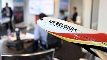 Une maquette d'un avion d'Air Belgium