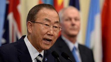 Le secrétaire général de l'ONU Ban Ki-moon, le 16 septembre 2013 à l'ONU, à New York