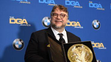"""Le Mexicain Guillermo del Toro a reçu samedi soir à Los Angeles le principal prix du syndicat des réalisateurs (DGA) pour son film """"La Forme de l'eau"""""""