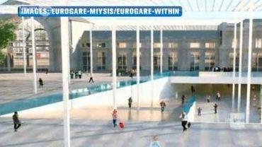 Une photo du projet de la gare de Charleroi