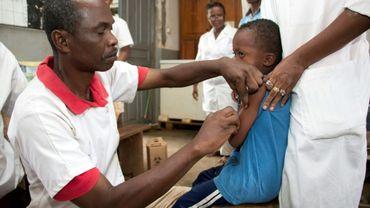 Campagne de vaccination contre la rougeole à Madagascar, le 10 mars 2019