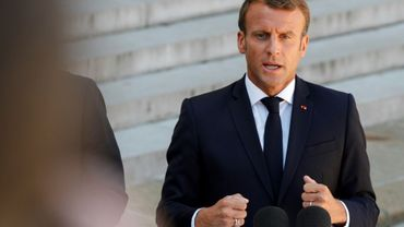 Le président français Emmanuel Macron le 22 août 2019 à L'Elysée