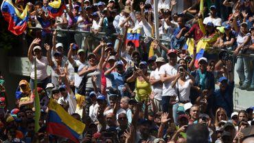 Supporters de Juan Guaido à Caracas