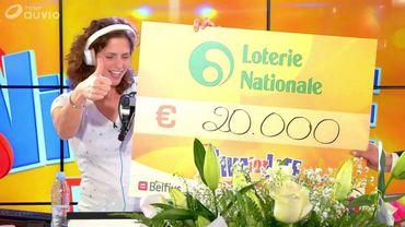 La Loterie Nationale a remis le chèque de 20.000 euros