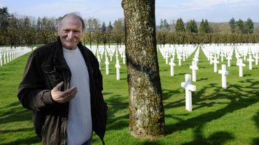 Jean Marie, un ancien militaire originaire de Verdun pris de passion pour le destin des Américains dans la guerre, le 23 mars 2017 au cimetière militaire américain de Romagne-sous-Montfaucon