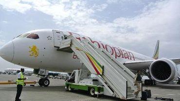 Un avion d'Ethiopian Airlines le 27 avril 2013 à l'aéroport d'Addis Abeba