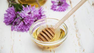 La propolis, résine récoltée par les abeilles et qui possèdent de nombreuse vertus.