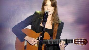 Carla Bruni dans une émission de France2 en 2008