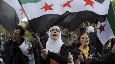 Manifestation salafiste pro-rebelles syriens à Tunis en 2012