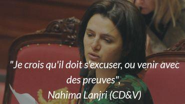 La députée fédérale Nahima Lanjri (CD&V) veut des excuses de la part de Jan Jambon (N-VA)