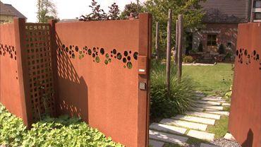 Le portail en acier corten