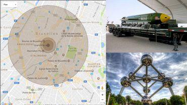Le centre de Bruxelles rasé si une bombe GBU-43B était larguée sur la Grand-Place?