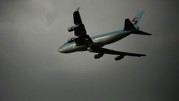 Un Boeing 747 de la compagnie Korean Air, à l'aéroport de Gimpo au sud de Séoul, le 26 août 2014