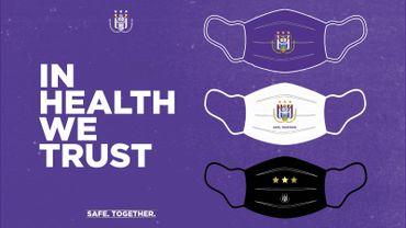 Coronavirus : Anderlecht met à son tour en vente des masques aux couleurs du club