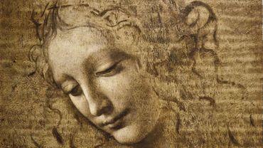 """Tête de femme, dite """"L'Ebouriffée » (1504-1508 circa) de Leonardo da Vinci, exposée à la Galerie nationale de Parme"""