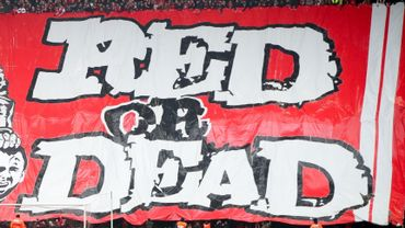 Banderole déployée lors de Standard-Anderlecht