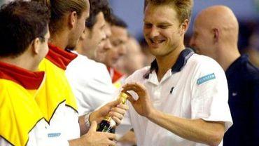 Tom Van Houdt il y a 10 ans, quand il représentait la Belgique en Coupe Davis