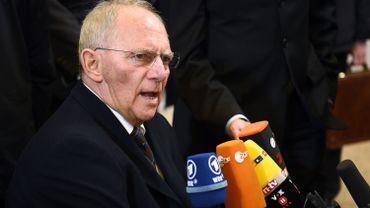 """Le ministre allemands des Finances, Wolfgang Schauble, ce vendredi: """"Nous travaillons à la consolidation de la zone euro"""""""