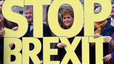 """La Première ministre ecossaise Nicola Sturgeon, veut empêcher le Brexit. Les Ecossais avaient voté massivement pour le """"Remain""""."""