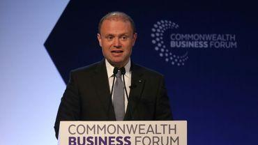 Le Premier ministre maltais Joseph Muscat, à LOndres le 16 avril 2018