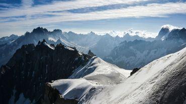 La vallée blanche, dans le massif du Mont Blanc, près de Chamonix (Alpes françaises), le 20 juillet 2019.
