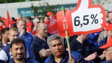 Les ouvriers allemands réclament 6,5% de hausse des salaires.