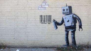 """""""Banksy NYC, Coney Island, Robot"""""""