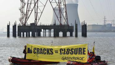 Une action menée par Greenpeace en mars dernier devant la centrale nucléaire de Doel.