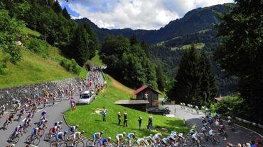 Peloton du Tour de France (illustration).
