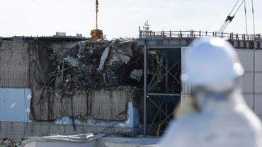 L'enceinte de confinement du réacteur 3 de la centrale de Fukushima dans le nord-est du Japon, le 10 février 2016