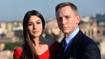 """Monica Bellucci et Daniel Craig à Rome pour le tournage de """"Spectre"""""""
