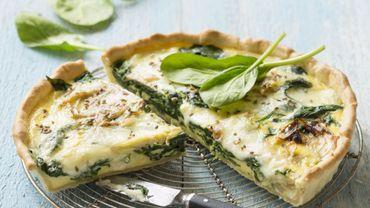 Recette : Tarte au reblochon de Savoie AOP, fenouil et épinards