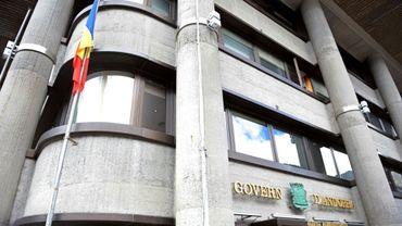 L'entrée du siège du gouvernement d'Andorre, le 1er avril 2009