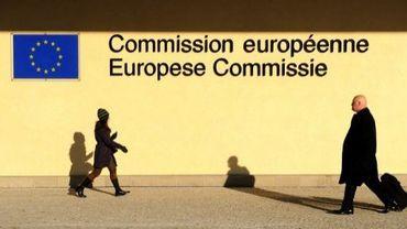 Façade de l'immeuble de la Commission européenne, le 6 février 2012