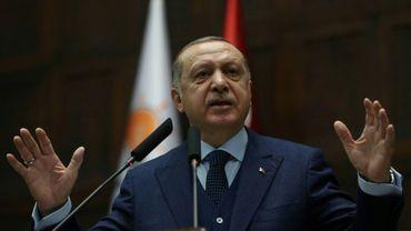 Le président turc Recep Tayyip Erdogan prononce un discours à Ankara, le 30 janvier 2018