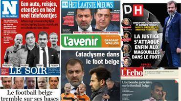 Revue de presse sur le séisme dans le foot belge: Un coup de pied salutaire dans la fourmilière