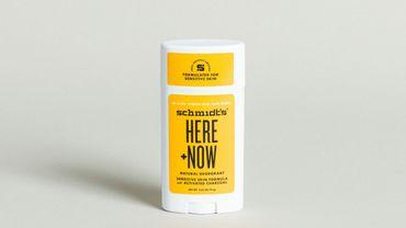 Déodorant naturel 'Here+Now' de Schmidt's x Justin Bieber